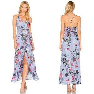 Yumi Kim Rush Hour Wrap Misty Bouquet Maxi Dress